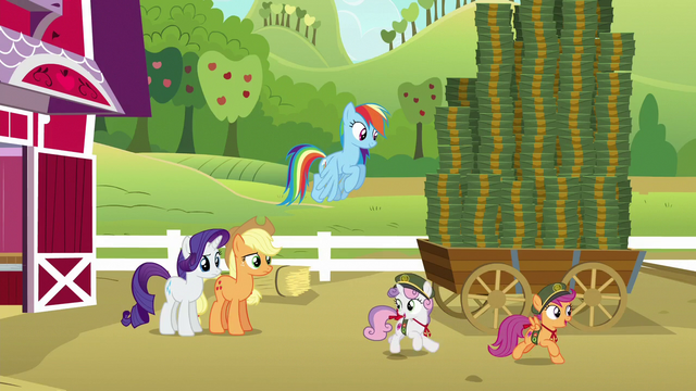 "File:Sweetie Belle ""hit every house in Ponyville!"" S6E15.png"