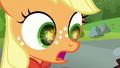 Applejack amazed at Rara's glowing cutie mark S5E24.png
