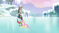 Fluttershy slides across the ice S03E10