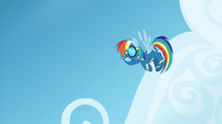 Rainbow Dash pauses in the air S6E7