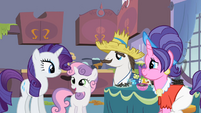 Rarity, Sweetie Belle and their parents S2E05