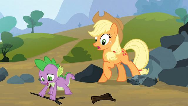 File:Spike saves Applejack 9 S3E09.png
