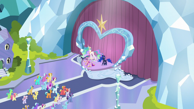File:Cadance addressing the Crystal Ponies S6E1.png