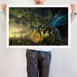 Chrysalis the Dark Queen art print WeLoveFine