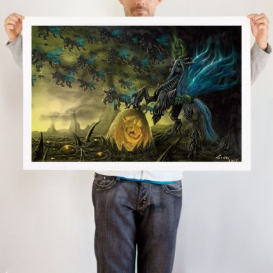 File:Chrysalis the Dark Queen art print WeLoveFine.jpg
