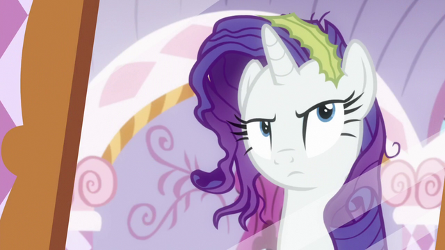 File:Rarity looking messy in a mirror S6E22.png