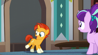 Sunburst happy to see his cutie mark S5E26