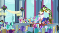 Main 5 and Princesses in Canterlot castle throne room S03E13.png