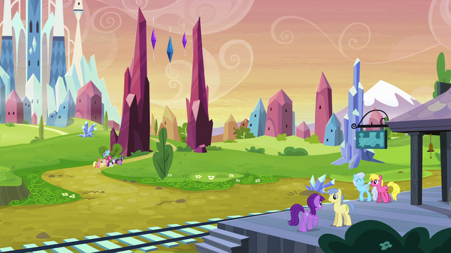 File:Mane Six enter the Crystal Empire EG.png