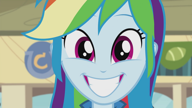 File:Rainbow Dash grinning widely EG2.png