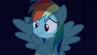 Rainbow Dash listening to Rarity S6E15