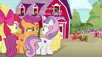 Scootaloo theorizing that Big Mac is a spy S7E8