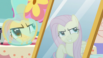 """Fluttershy's reflection """"stairs that lead to nowhere"""" S7E12"""