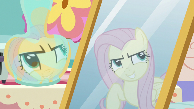 """File:Fluttershy's reflection """"stairs that lead to nowhere"""" S7E12.png"""