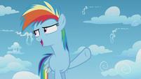 Rainbow Dash being overconfident S5E25