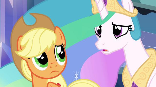 File:Princess Celestia asks about Sunset Shimmer EG.png