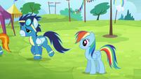 Rainbow sees the Wonderbolts walking away S4E10