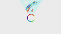 Slide of Rainbow Dash's first rainboom S5E25