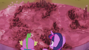 Cutie Map shows half of Equestria covered in crystal S5E25