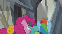 Pinkie and Rainbow looks up S5E8