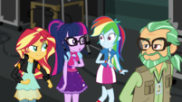 Sunset giving Rainbow a disapproving glare EGS2
