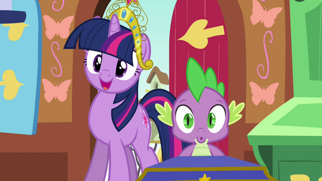 File:Twilight and Spike impressed S03E13.png