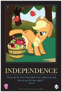 """Applejack """"Independence"""" poster from ComicCon 2012"""