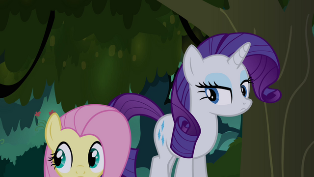 File:Fluttershy and Rarity in the Everfree S4E03.png