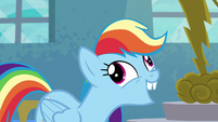 Rainbow Dash with buckteeth S6E7