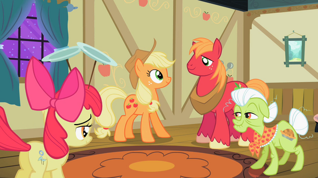 File:The Apple family happy because Apple Bloom discovered her talent S2E06.png