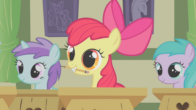 File:Apple Bloom with her pencil S1E12.png