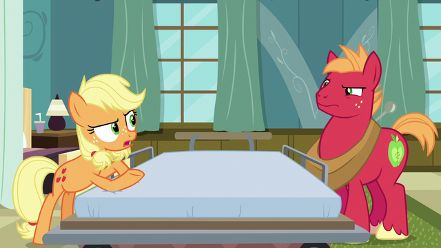 "File:Applejack ""you'd just ramble on and on"" S6E23.png"