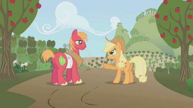 File:Applejack angry at Big Mac S1E04.png