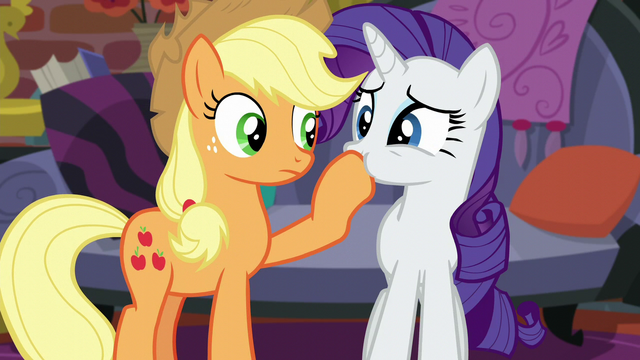 File:Rarity trying to talk with her mouth plugged S5E16.png
