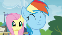 Fluttershy and Rainbow Dash pleased S4E22