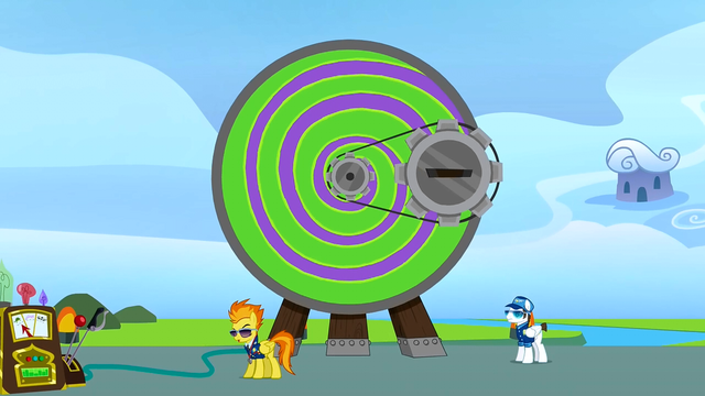 File:Spitfire shows the ponies the Dizzitron S3E07.png
