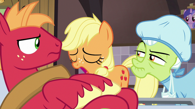 File:Young Applejack heaves a heavy sigh S6E23.png