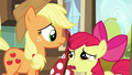 Apple Bloom suggest Applejack to tell the map to wait a few days S5E17.png