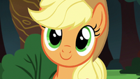 Applejack listening to Rainbow Dash S6E18