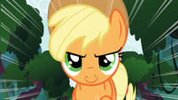 Applejack running bravely S3E9