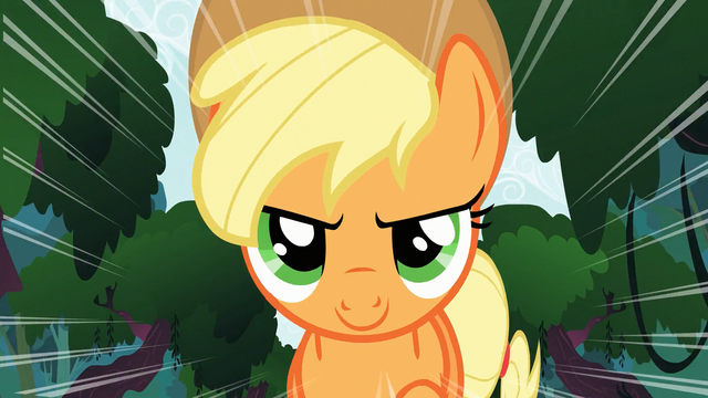 File:Applejack running bravely S3E9.png