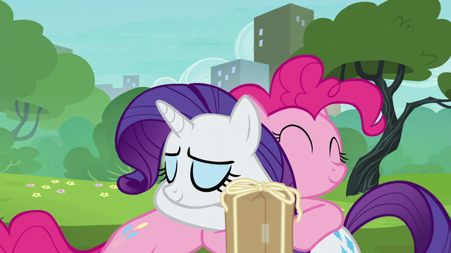 File:Pinkie giving Rarity a grateful hug S6E3.png