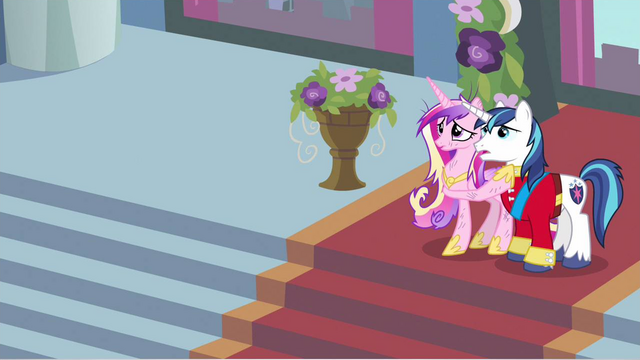 File:Princess Cadance & Shining Armor scared S2E26.png