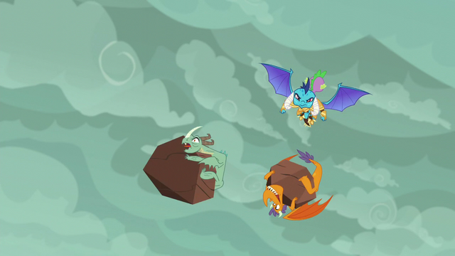 File:Spike and Ember swerve past dragons S6E5.png