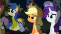 Applejack and Rarity watching the play S5E16.png