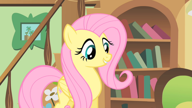 File:Fluttershy happy to help a mouse S1E22.png