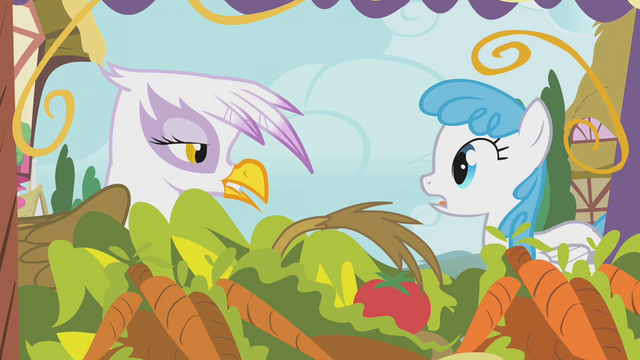 """File:Gilda and Lightning Bolt """"this stuff ain't fresh, dude"""" S1E05.png"""