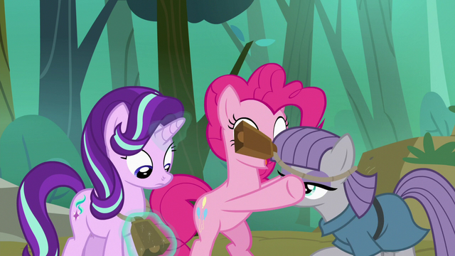 File:Pinkie puts cowbells on Starlight and Maud S7E4.png