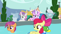 "Diamond Tiara ""all the ponies we're keeping out"" S4E15.png"