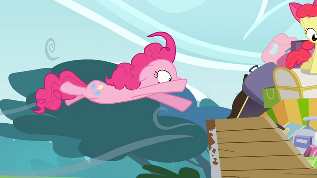 File:Pinkie Pie being flown off S4E09.png